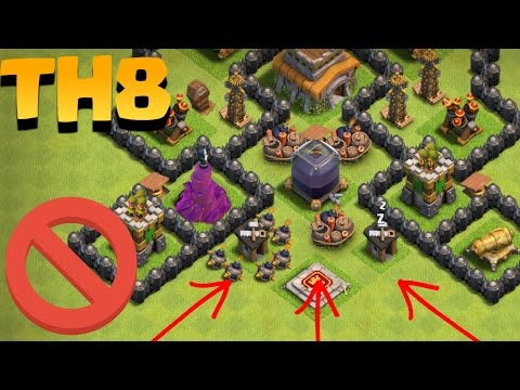 Undefeated Best Town Hall 8 Trophy Base Coc Th8 Trophy Defense Base