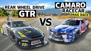 Coco Zurita's RWD R35 GT-R Races Michele Abbate's Trans-Am Series Racecar // This vs. That