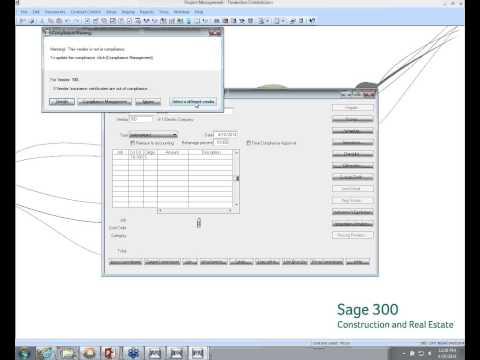 Sage 300 CRE - Track & Prevent Subcontractor Risk