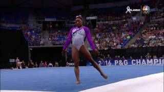 Simone Biles - Floor Exercise - 2016 P&G Gymnastics Championships - Day 1