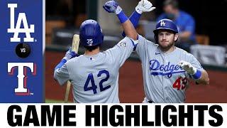 Bellinger, Muncy homer in 7-4 victory | Dodgers-Rangers Game Highlights 8/29/20