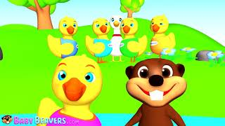 Five Little Ducks   Kids English Nursery Rhyme, Cute Baby Song, Relaxing & Soothing Melod