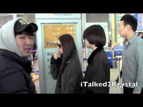 [FANCAM] 121217 f(x) Departure @ Incheon Airport Korea