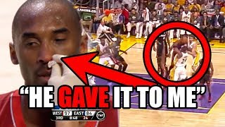 This NBA Star BROKE Kobe Bryant's Nose And INSTANTLY Regretted It
