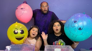 Making Slime With Giant Funny Balloons! Giant Slime Funny Balloon Tutorial