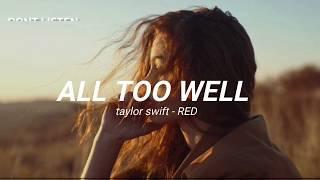 all too well - taylor swift [TRADUÇÃO/LEGENDADO]