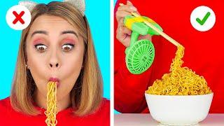 GENIUS HACKS FOR LAZY PEOPLE    Easy Funny Food Hacks and TikTok Tricks by 123 GO! FOOD