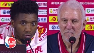 Donovan Mitchell and Gregg Popovich react to Team USA's loss vs. France | 2019 FIBA World Cup