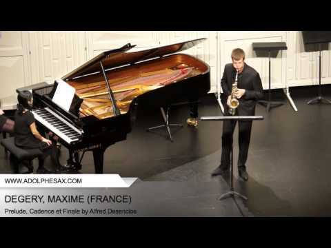 Dinant 2014 - Degery, Maxime - Prelude, Cadence et Finale by alfred Desenclos