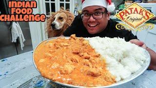 Massive Indian Food Challenge ( Chicken Tikka Masala )