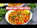Mexican Fried Rice from Leftover Brown Rice Video Recipe | Bhavnas Kitchen