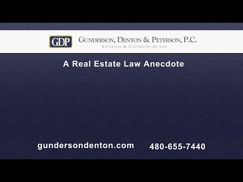 A Real Estate Law Anecdote | Sterling Peterson