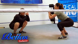Brie and coach Daniel Bryan have fun warming up  | Total Bellas Exclusive