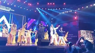 Kaushal & DSP dancing on SHANKAR DADHA MBBS @Social media awards