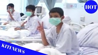 Thailand cave: First footage emerges of boys in hospital