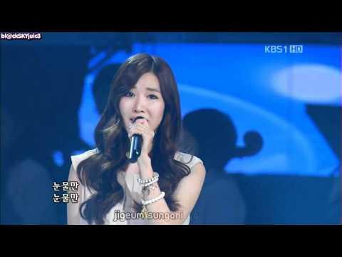Davichi - Don't Say Good Bye LIVE [eng sub + kara roman]