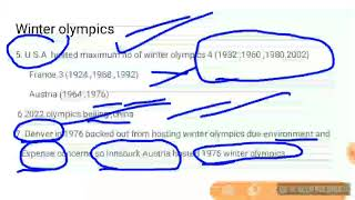 Winter Olympics 2018 pyeongchang S.korea all information upsc ias pcs railways