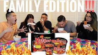 EXTREME Spicy Ramen Challenge - FAMILY EDITION!!!