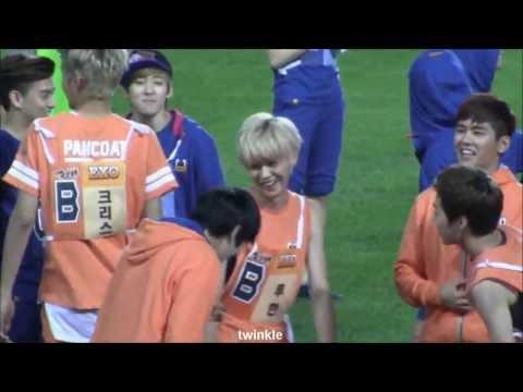 130903 아육대 EXO LUHAN focus 400m 경기 전 Tao의 응원은? 2