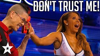 Magician Has A Dangerous Task For Mel B on America's Got Talent | Got Talent Global