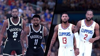 NBA 2K19 - Brooklyn Nets vs. Los Angeles Clippers - Full Gameplay (Updated Rosters)