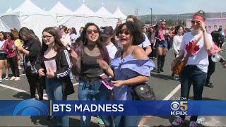 K-Pop Fans Swarm Oracle Arena For Boy Band BTS Concert