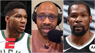 JWill questions why Giannis didn't guard KD down the stretch in the Bucks' loss to the Nets | KJZ