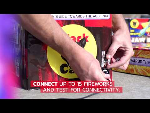 FireFly is the only wireless device that allows consumers to design and safely launch a fireworks show through their Bluetooth® smart device.