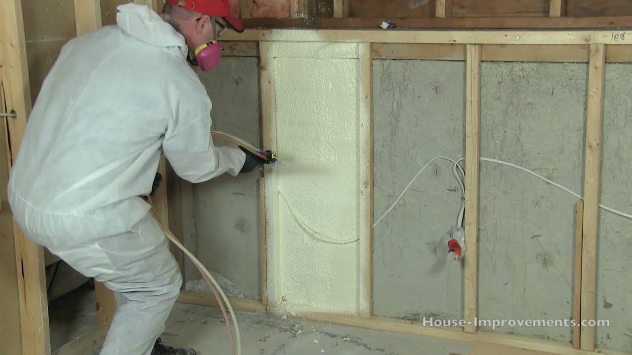 How To Install Spray Foam Insulation Diy Youtube