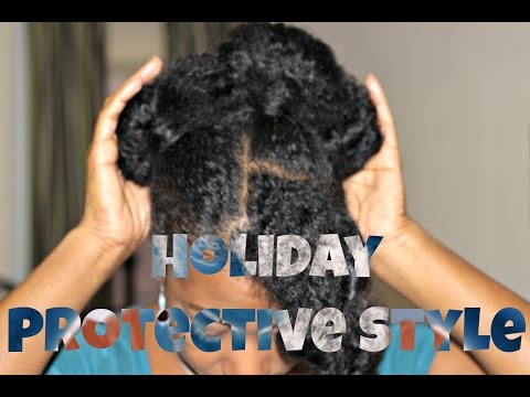 Natural Hair Updo Kanekalon Braiding Hair Protective Style Musica ...