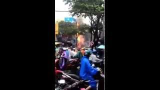 ngân hàng agribank bị cháy tại đà nẵng ngày 12/10/2015
