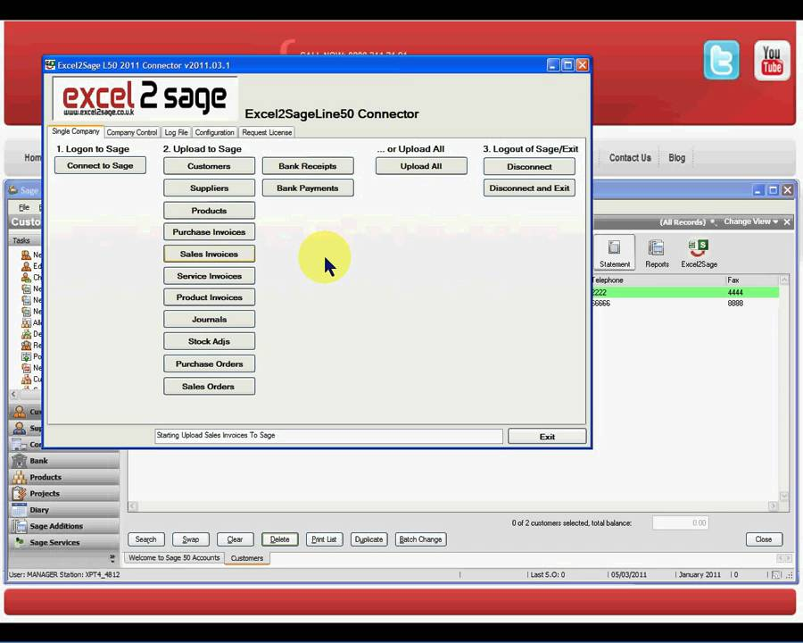 excel2sage how to import sales invoice batches into sage 50 from excel youtube