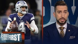 Cowboys loss to Vikings falls on play-calling not Dak — Nick Wright | NFL | FIRST THINGS FIRST