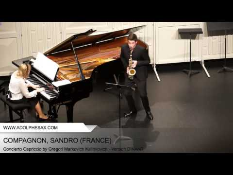 Dinant 2014 - COMPAGNON, Sandro (Concierto Capriccio by Gregori Markovich Kalinkovich - v. DINANT)