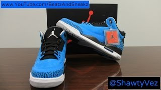 Air Jordan Retro 3 Powder Blue Review