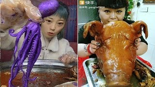 ♥♥EATING SHOW COMPILATION-CHINESE FOOD-MUKBANG Greasy Chinese octopus and other interesting food #24