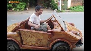 Siêu Xe Lamborghini   Làm Bằng Gỗ của nông dân Sơn Tây - Hà Nội