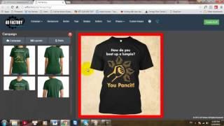 Sử dụng AdFactory để tạo ảnh chạy ads cho Teespring