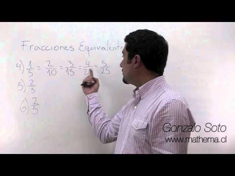 Fracciones: Fracciones equivalentes