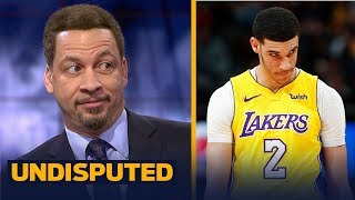 Chris Broussard talks Lonzo Ball's shooting slump in Lakers' loss to New Orleans | UNDISPUTED