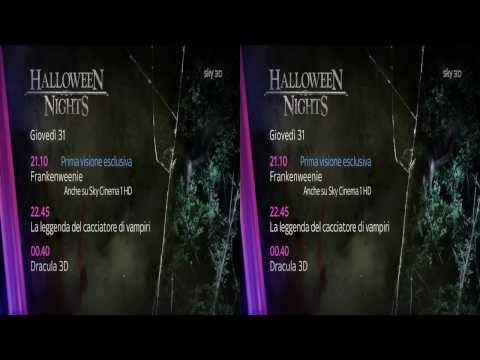Sky 3D HD Italy Halloween Advert & New Ident 28.10.2013 King Of TV Sat