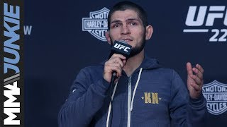 UFC 229: Khabib Nurmagomedov post fight press conference