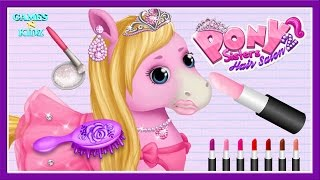 Fun Animal Horse Care - Pony Horse Care Hair Salon Dress Up - Pony Sisters Hair Salon 2
