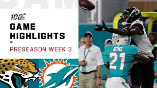 Jaguars vs. Dolphins Preseason Week 3 Highlights | NFL 2019