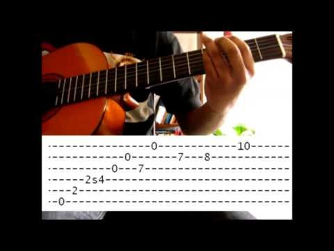 Naruto Theme Sadness And Sorrow - Tutorial guitar Tabs