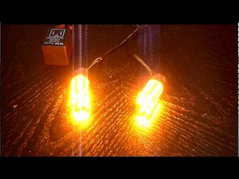 24 Led Amber Orange Turn Signal Light Bulbs With