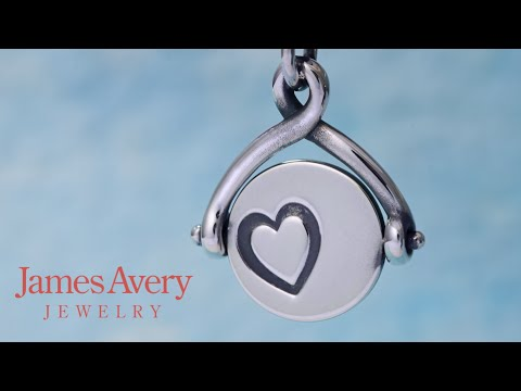 Two Hearts Spinner Charm