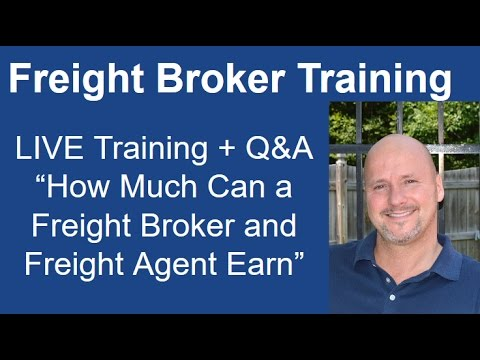 Freight Broker Training - How Much Can a Freight Broker and Freight Agent Earn?