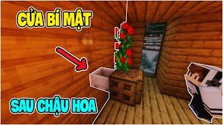 5 Cánh Cửa Bí Mật Cực Đơn Giản Nhưng Hiệu Quả Trong Minecraft - Cửa Bí Mật Sau Chậu Hoa