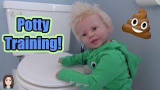 Potty Training Reborn Toddler Lane! | Kelli Maple